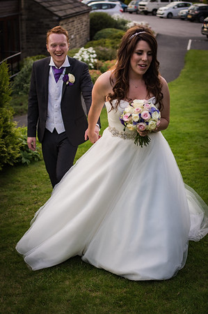 Bride and Groom in the garden.
