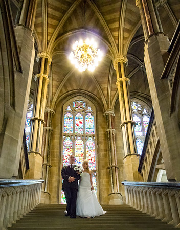 Father and Bride in Rochdale Town Hall