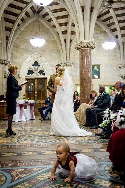 Wedding vows in Rochdale Town Hall