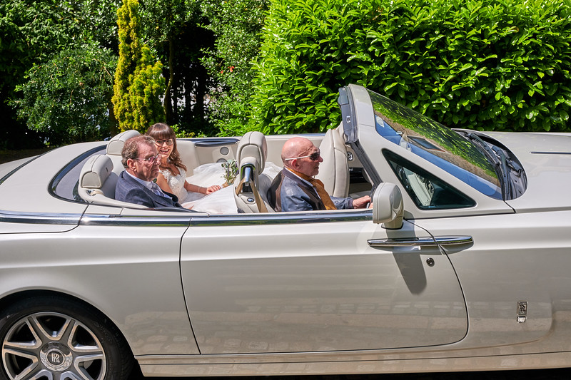 Chauffeur driven Bride