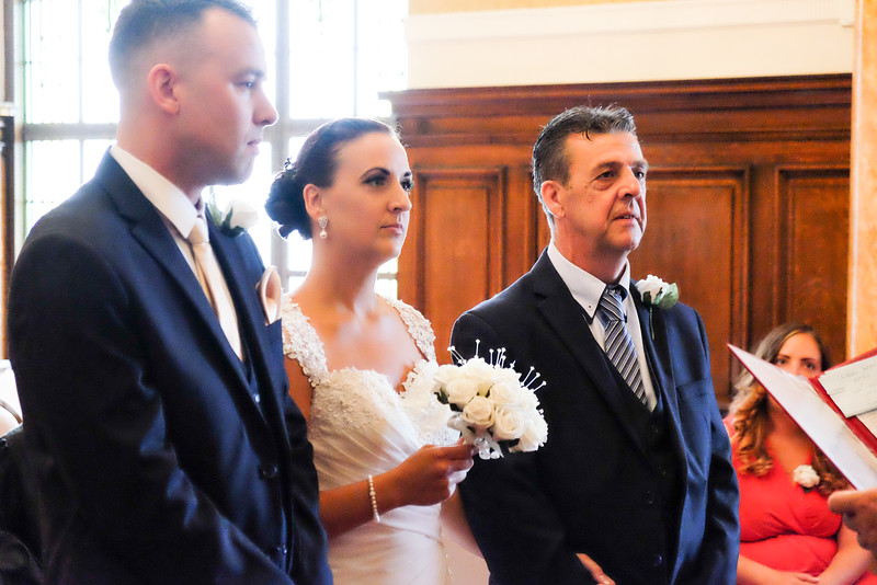 Bride , Father and Groom
