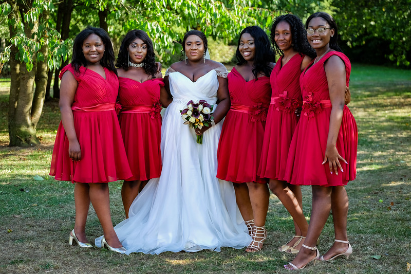Stunning Bridal Group Photo