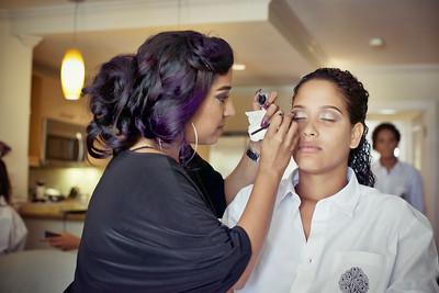 Makeup details