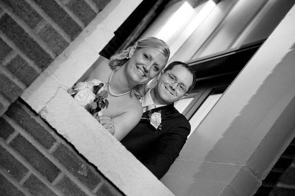 Erica & Brandon Wedding - B&W