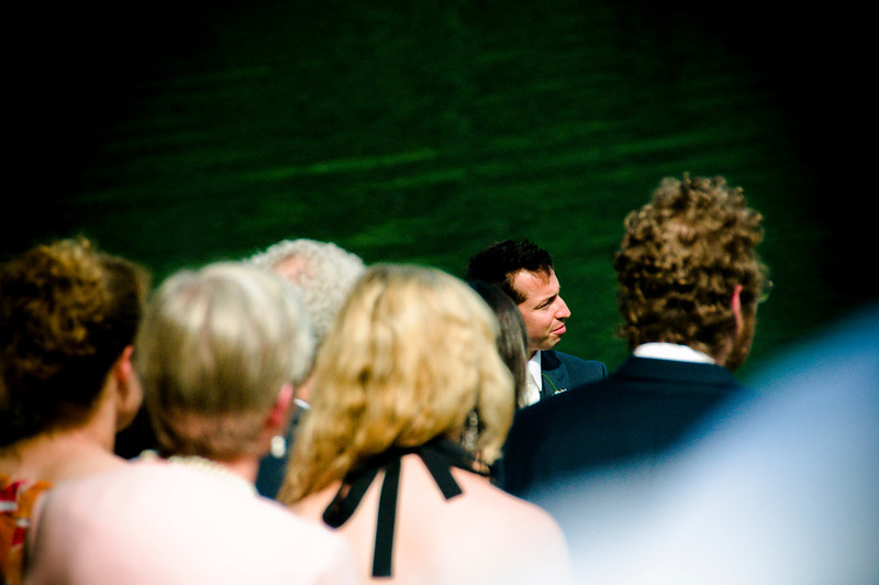 The groom listening and learning...