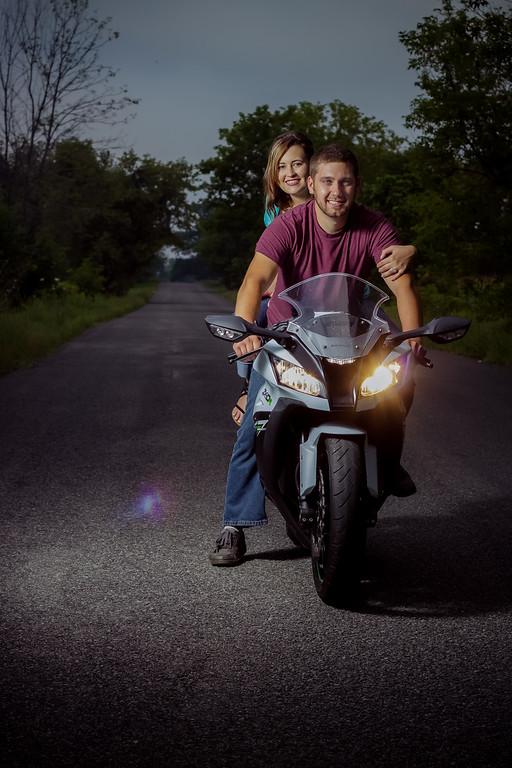 Grand Rapids, MI motorcycle engagement