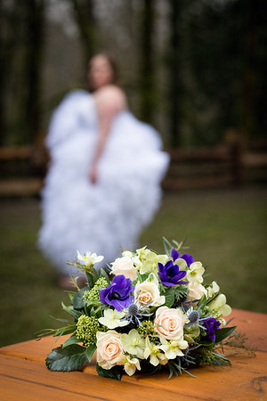 Flower Arrangement - Two Brides in the Forest - Toad Hollow Wedding Photography