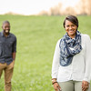 Kiera and Lucious pose for a photo during their Engagement session in Bealton, VA.