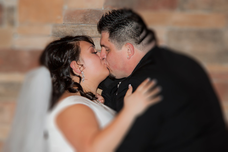 Jessica and Matt, first kiss as husband and wife
