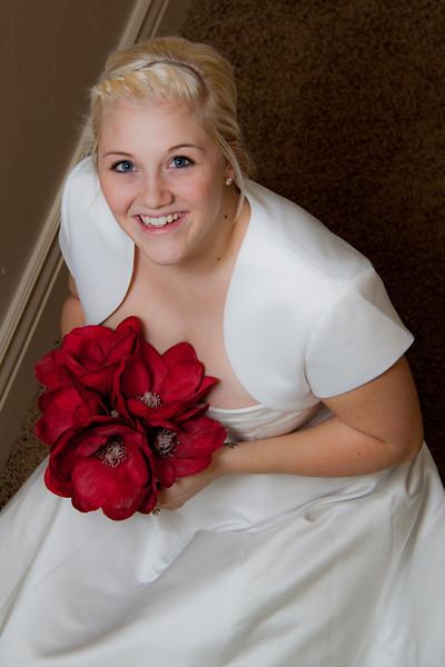 Nikki in wedding dress
