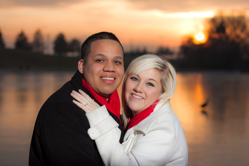 Alberto and Nikki engagement session at Sugarhouse Park