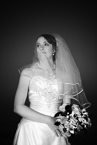black & white veil
