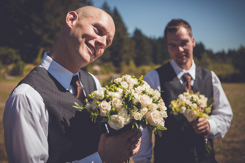 Men with Flowers