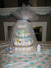 A Diaper Cake for good luck.