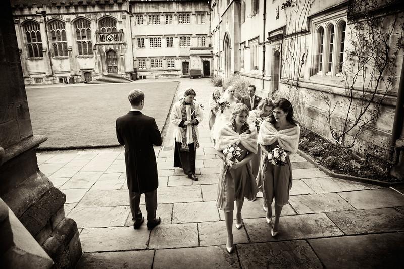Exeter College Oxford bridal entrance