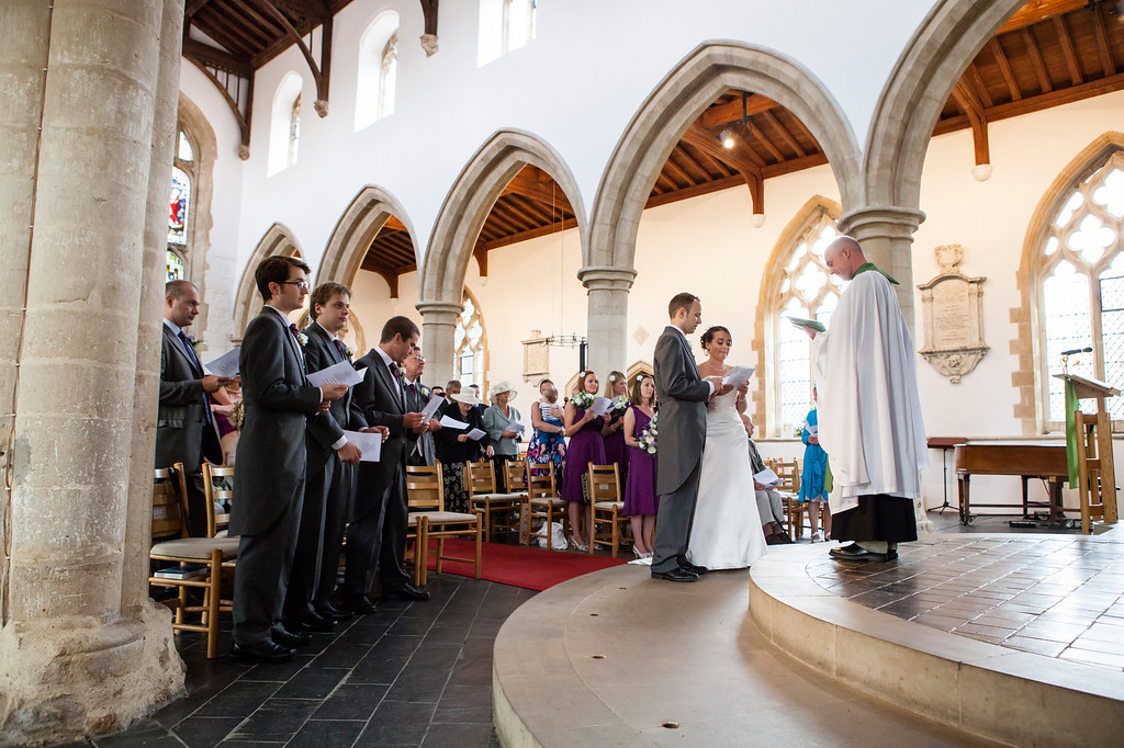 St Mary's Church, Thame, wedding ceremony