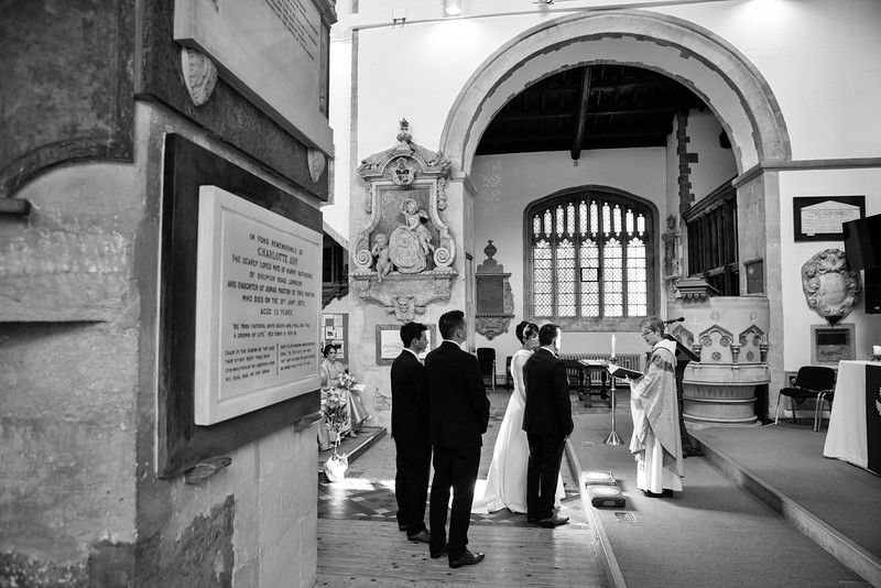 Wedding ceremony Bicester church