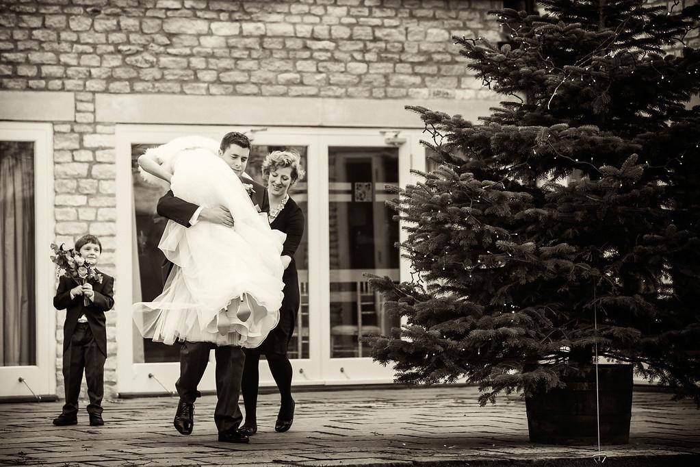 Hyde Barn winter wedding