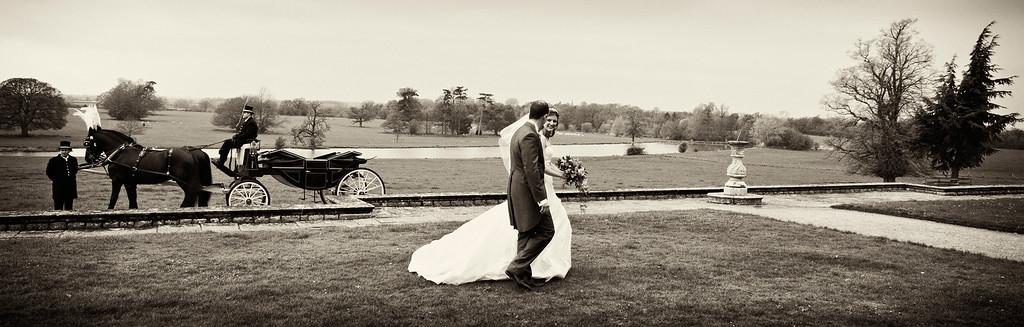 Claydon House wedding couple