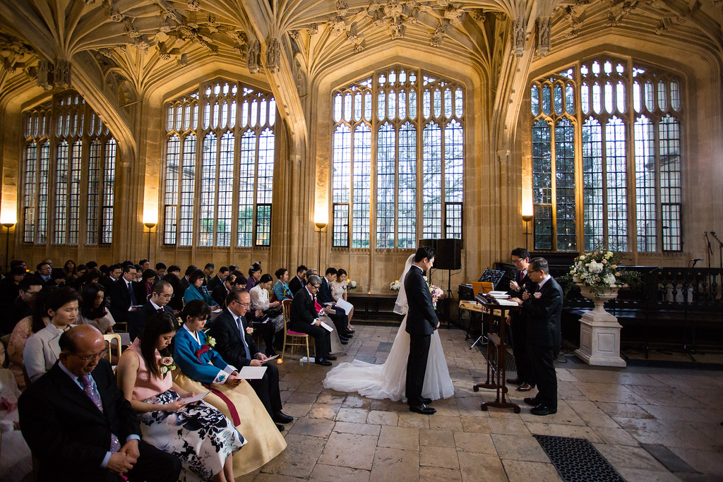 Bodleian Library Divinity School wedding