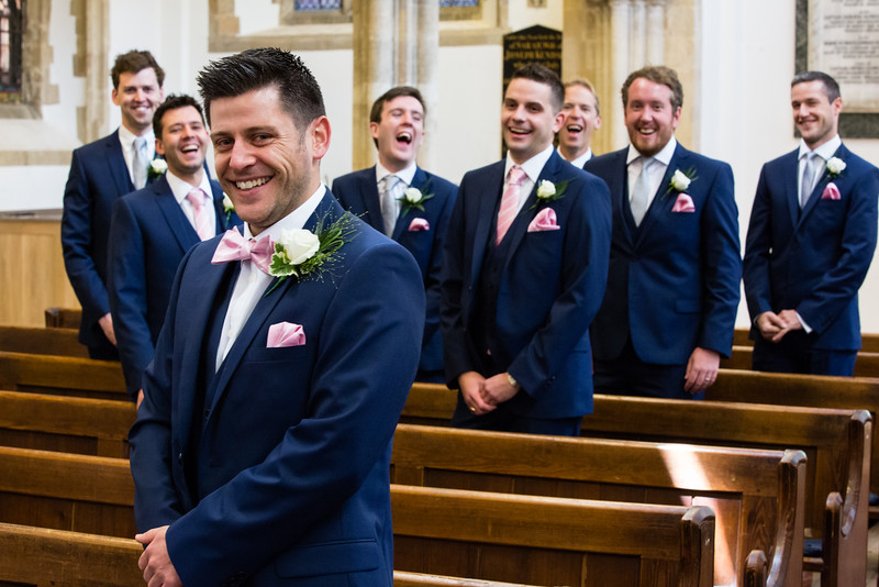 Groom and groomsmen Bicester Church