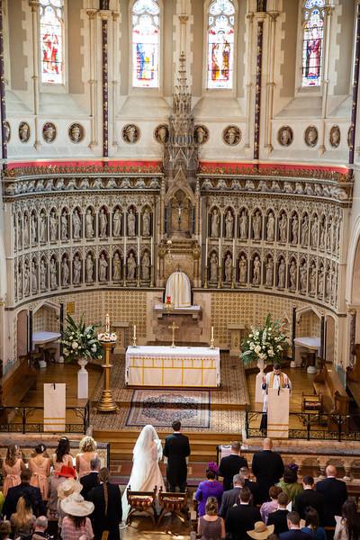 St Aloycious Oxford wedding ceremony