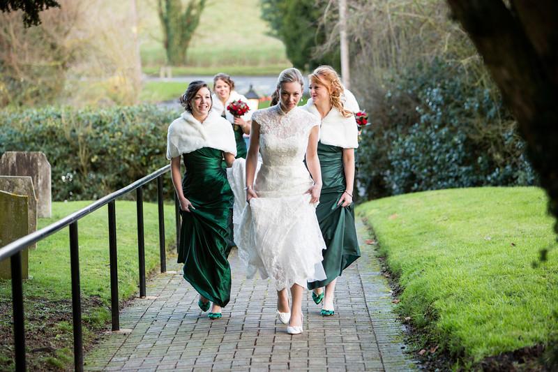 Bride's arrival Beachampton
