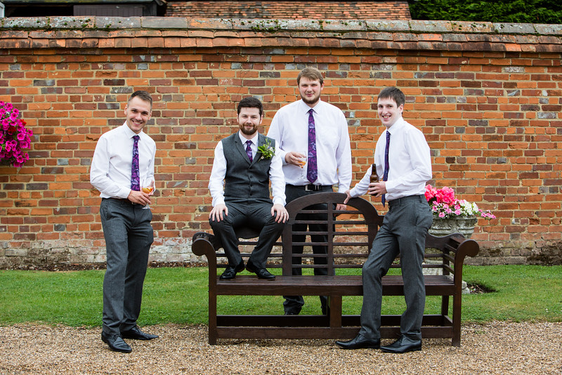 Lillibrooke Manor groom and groomsmen