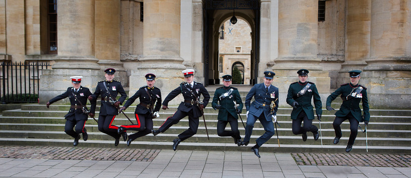 Military jumping shot Bodleian Library