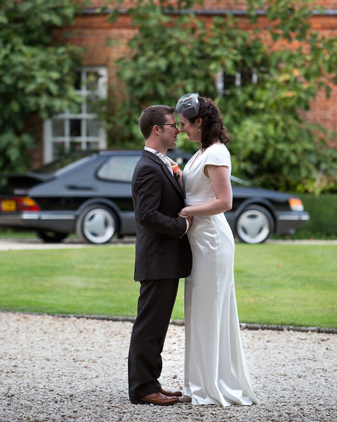 Britwell House with beloved Saab (and bride)