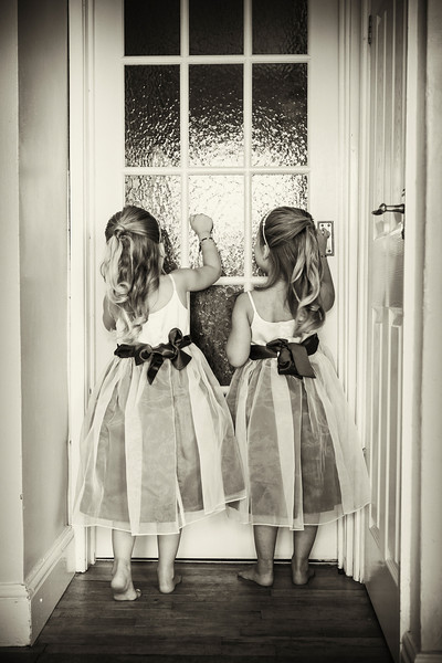 Twin bridesmaids