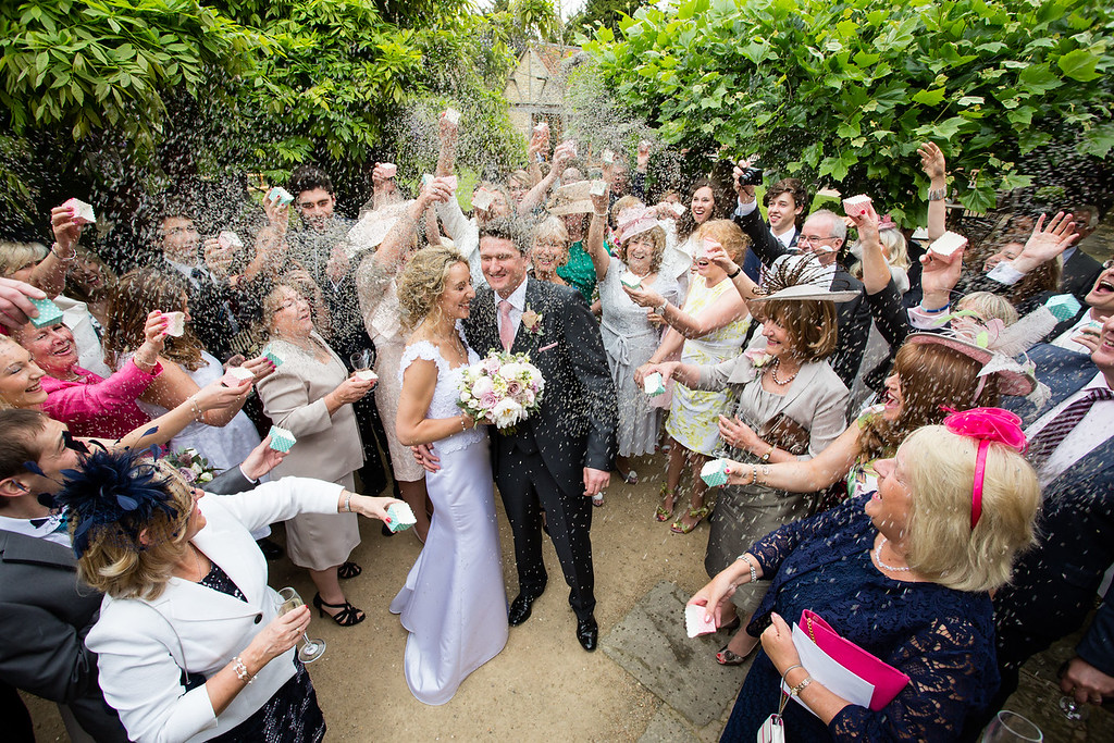 Happy confetti shot The Tythe Barn Launton