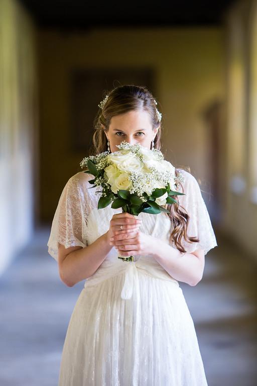 Bridal bouquet Magdalen College Oxford