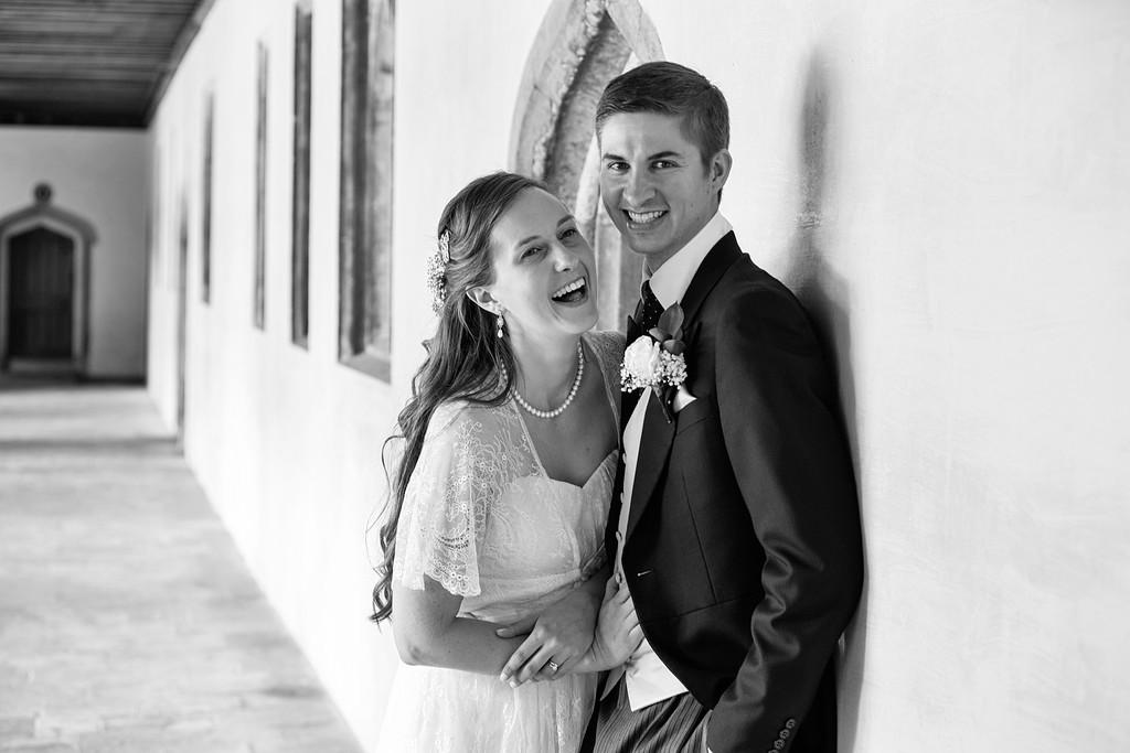 Magdalen College wedding couple