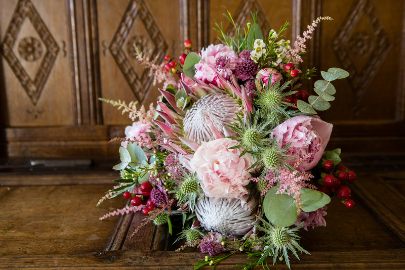 Gorgeous bouquet with peonies