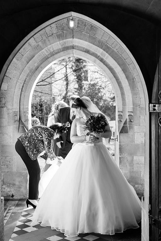 Bride's entrance Hailey church