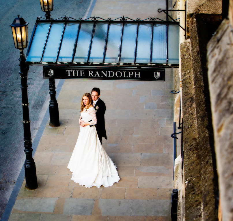 Couple shot at The Randolph Hotel, Oxford