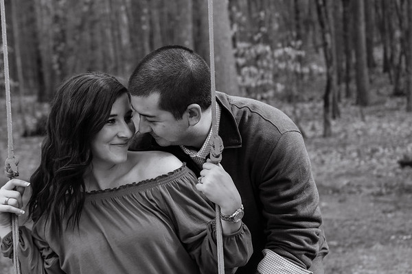 Gillain & Bobby's Playful At-Home Engagement Session