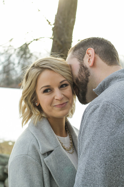 Stacey & Drey's Cozy Winter Engagement Session