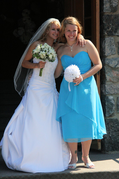 Kayla and bridesmaid