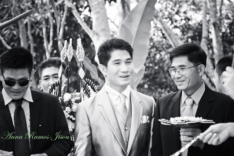 Den sees his bride.