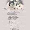One of the examples I have done for other anniversary poems with original wedding photos.