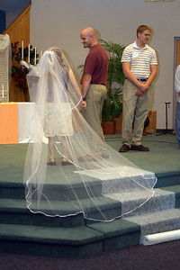Rehearsal - Sarah, David, and Michael Mosley (best man). -RB