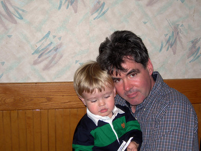 Rehearsal Dinner - Jim Slough with son Hayden - SS