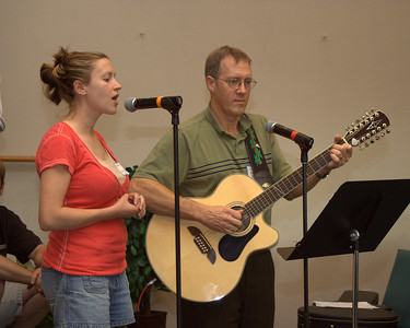 Rehearsal - Lydia Badger (sister) and Greg Cranston (dad) provided a song for the wedding. -RB