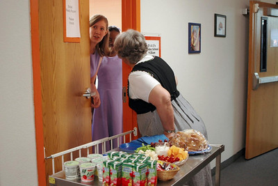 Getting Ready - Maggie Marshall provided food support for the wedding party - HP