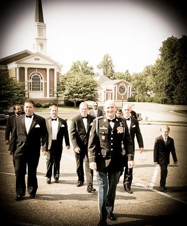 Groomsmen Before Wedding At Church