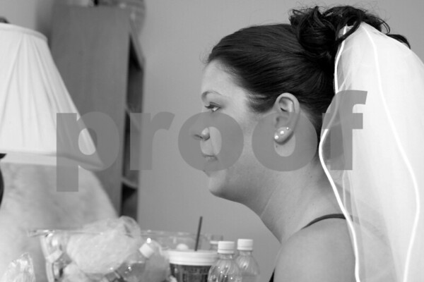 Bride and Bridesmaids Get Ready