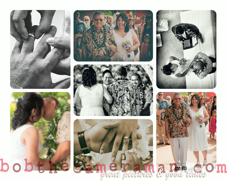 COLLAGE_Richard and Wendi wedding-Hawaii United Okinawa Association-Waipio-July 2014