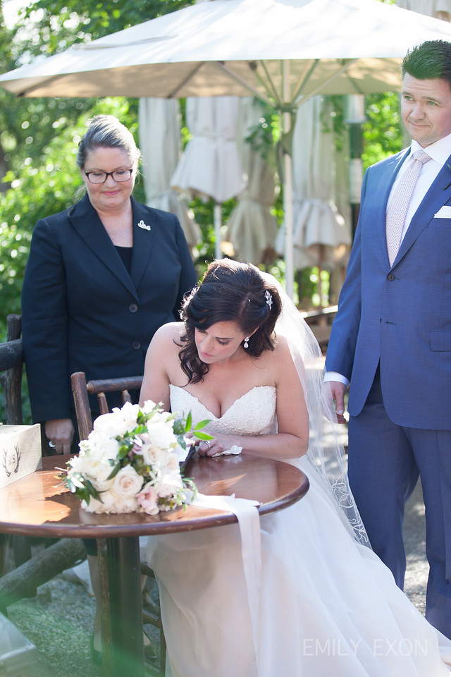 River Cafe Wedding- Signing Table